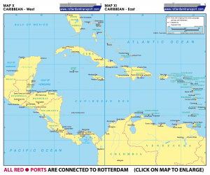 Map X Caribbean - West | Map XI Caribbean - East