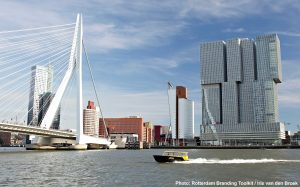 Erasmus brigde and The Rotterdam