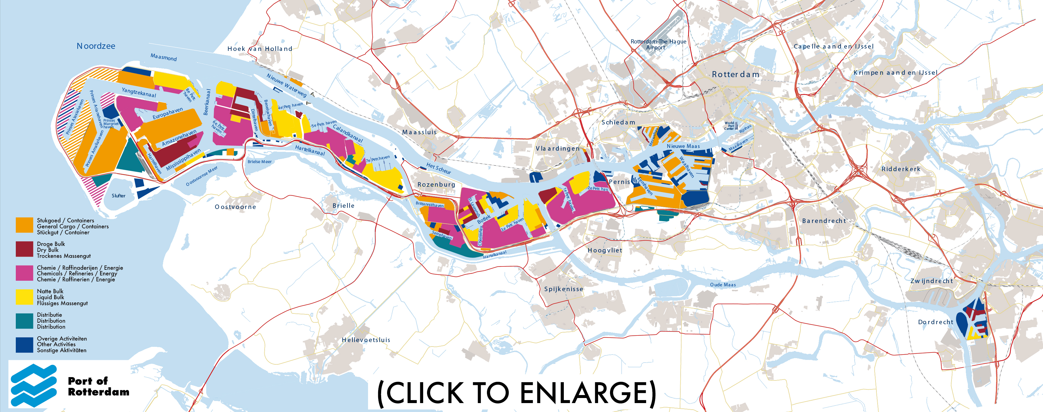 Map Port of Rotterdam Active in Rotterdam Port|