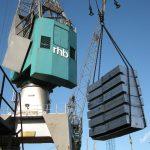 Crane aluminium discharging