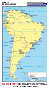 Map XII South America