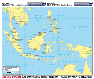 Map XVII - Southeast Asia - Indian Ocean | MAP VIII Southeast Asia - Pacific Ocean