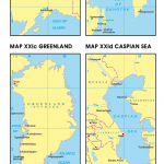 Map XXIa Alaska | Map XXIb Sea of Okhotsk | Map XXIc Greenland | Map XXId Caspian Sea