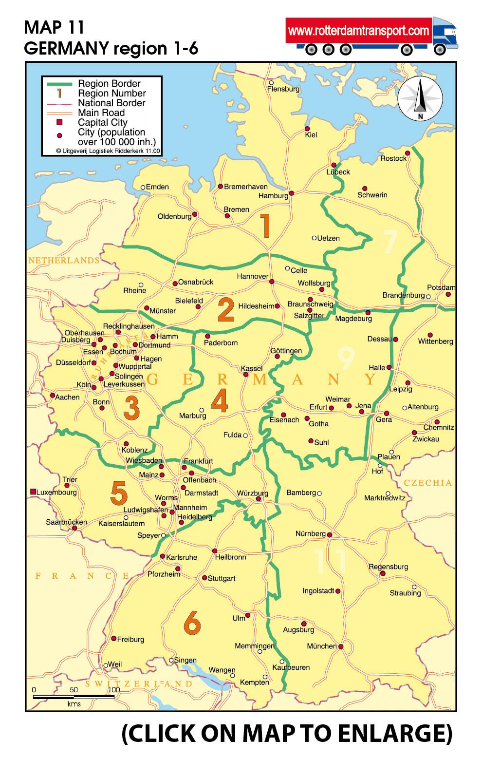 wwwrotterdamtransportcom maps groupage by road