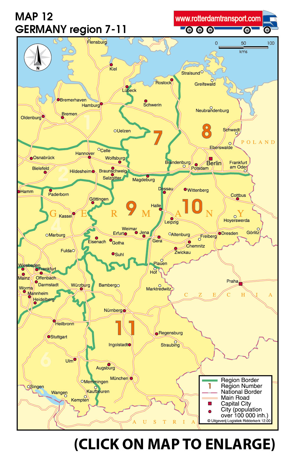 wwwrotterdamtransportcom maps groupage by road