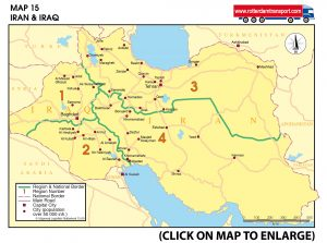 Map 15 Iran & Iraq