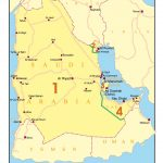 Map 23 Saudi Arabia, Kuwait, Bahrain, Qatar & United Arab Emirates