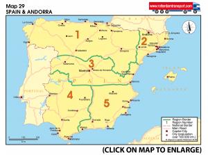 Map 29 Spain & Andorra