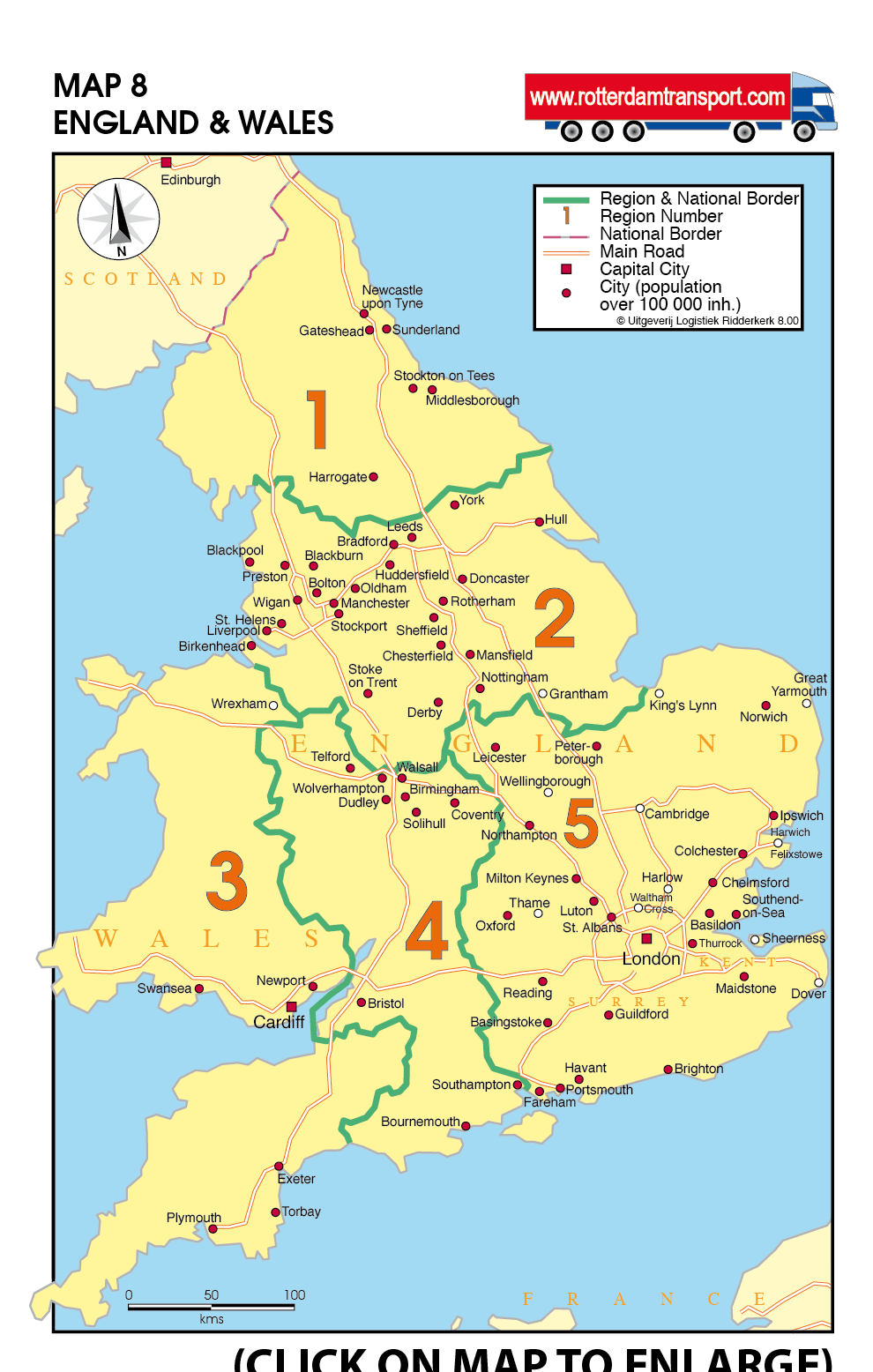 Country Map Of England.Www Rotterdamtransport Com Maps Groupage By Road