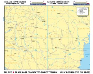 Map III - Inland Shipping Europe - Eastern Europe - West | Map IV - Inland Shipping Europe - Eastern Europe - East