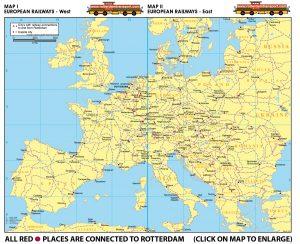Map I - European Railways West | Map II - European Railsways - East