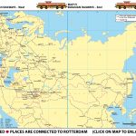 Map III - Eurasian Railways - West | Map IV - Eurasian Railways - East