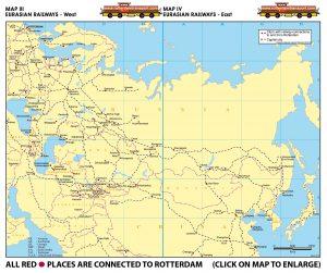 Map III - Eurasian Railways - West | Map IV - Eurasian Railways - East