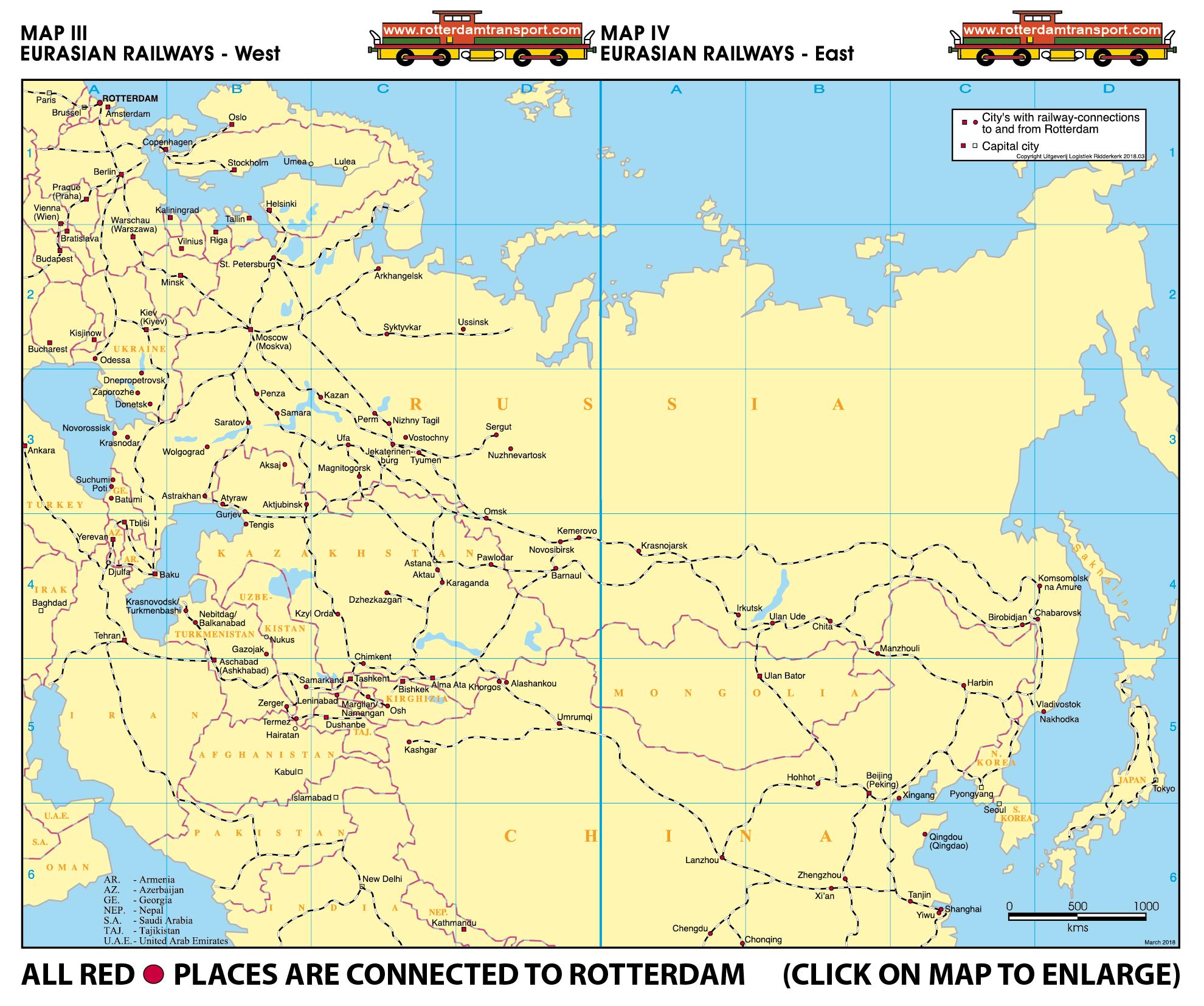 www rotterdamtransport com - maps railway traffic