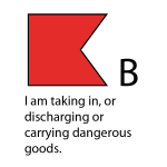 B - I am taking in, or discharging or carrying dangerous goods