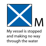 M - My vessel is stopped