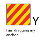 Y - I am dragging my anchor