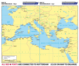Map III Mediterranean Europe - West | Map IV Mediterranean - East