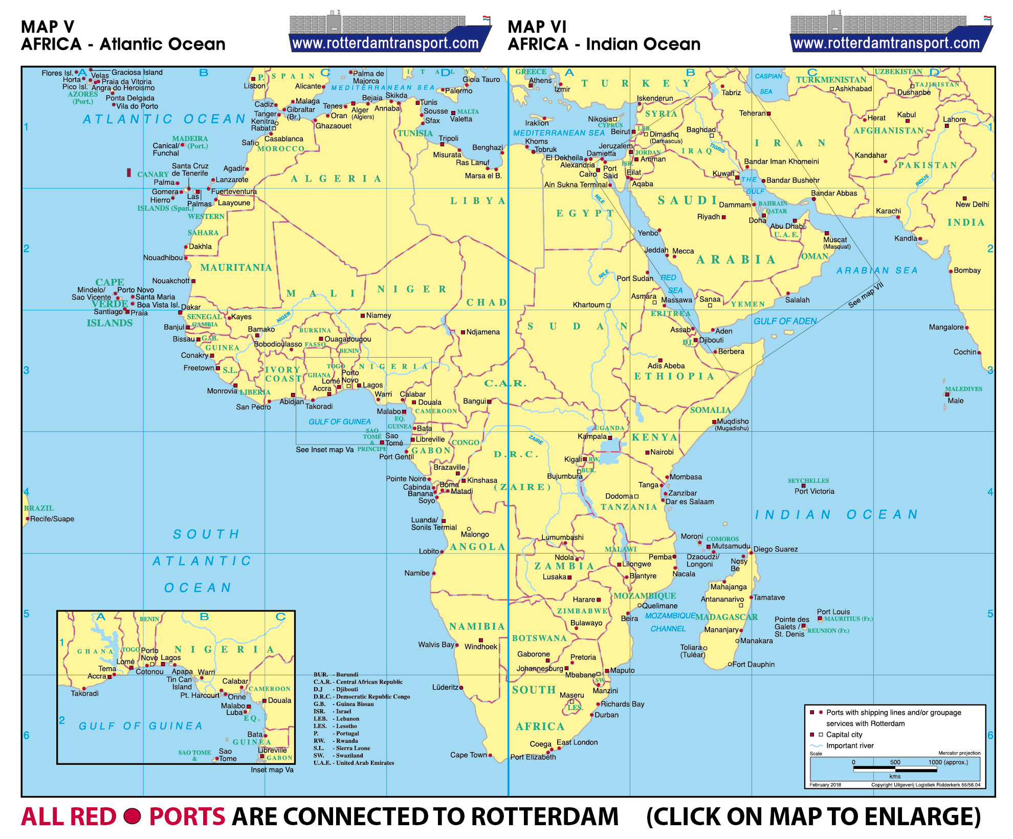 Www Rotterdamtransport Com World Port Maps