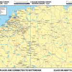 Map I - Inland Shipping Europe – Western Europe – West | Map II Inland Shipping - Western Europe – East