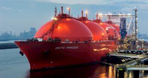 LNG gas tanker, Location: Maasvlakte (Photo: Eric Bakker)
