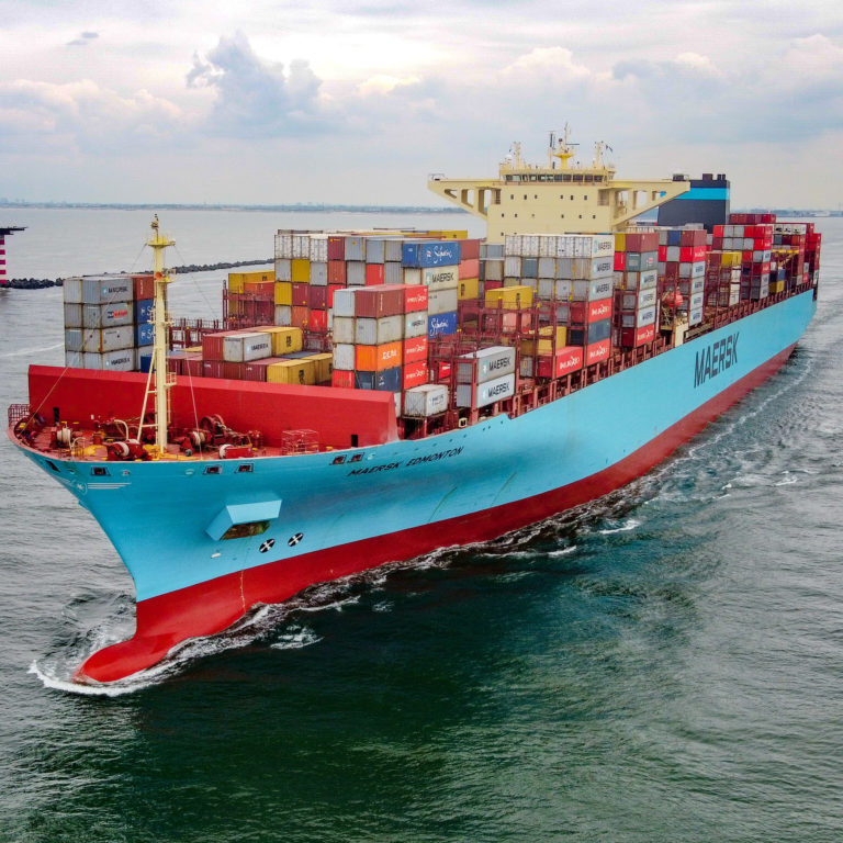 The vessel Maersk Edmonton (IMO: 9458030, MMSI: 219199000) is a container vessel, build in 2011 and sails under the Danish flag. She is 366m long and 48m wide. Maximum TEU: 13.092. (Photo: Wouter van der Mark)